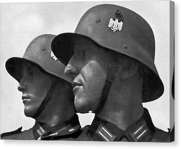 Confidence Men Canvas Print - German Soldiers Portrait by Underwood Archives