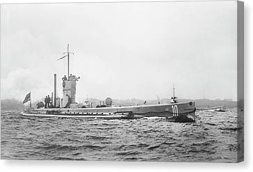 German Submarine Canvas Print by Library Of Congress