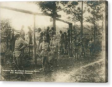 German Sw Africa Executions Canvas Print by Underwood Archives