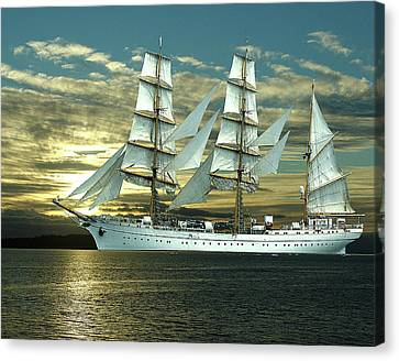 German Training Ship Gorch Foch Canvas Print