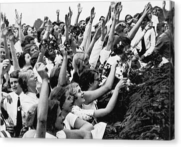 Germans Cheering Hitler Canvas Print