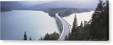 Germany, Bavaria, Bridge Canvas Print by Panoramic Images