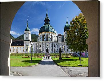 Germany, Bavaria, Ettal, Kloster Ettal Canvas Print