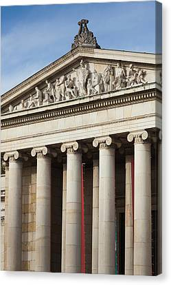 Germany, Bavaria, Munich, Glyptothek Canvas Print by Walter Bibikow