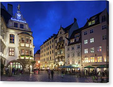 Germany, Bavaria, Munich, Hofbrauhaus Canvas Print by Walter Bibikow