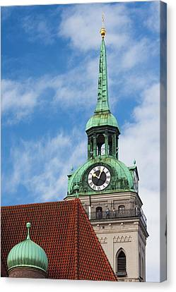 Germany, Bavaria, Munich, Peterskirche Canvas Print by Walter Bibikow