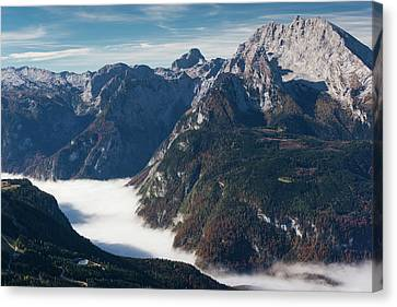 Germany, Bavaria, Obersalzberg, Alpine Canvas Print by Walter Bibikow