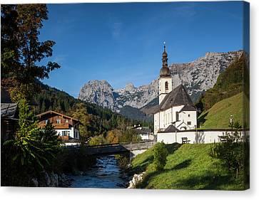Germany, Bavaria, Ramsau, Ramsau Canvas Print by Walter Bibikow