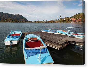 Germany, Bavaria, Schliersee Lake Canvas Print by Walter Bibikow