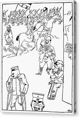 Germany Cartoon, 1921 Canvas Print by Granger