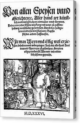Germany Cookbook, 1536 Canvas Print by Granger