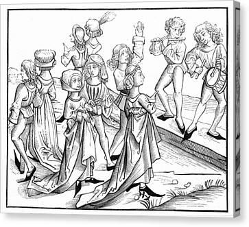 Germany Dancers, 1493 Canvas Print by Granger