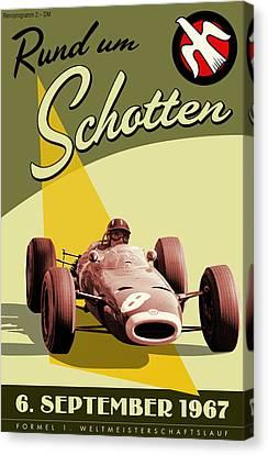 Germany Grand Prix F1 1967 Canvas Print by Georgia Fowler