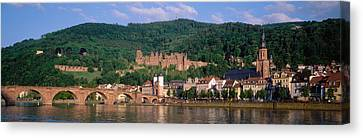 Germany, Heidelberg, Neckar River Canvas Print by Panoramic Images