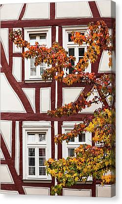 Germany, Hesse, Wetzlar, Half-timbered Canvas Print by Walter Bibikow