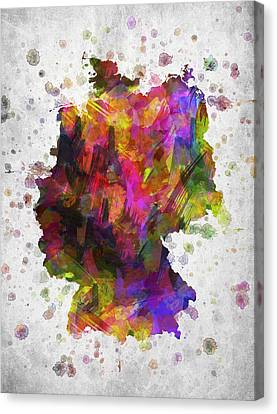 Germany In Color Canvas Print