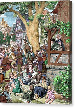 Germany Minstrel Reciting Poems Canvas Print