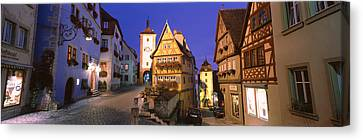 Germany, Rothenburg Ob Der Tauber Canvas Print by Panoramic Images
