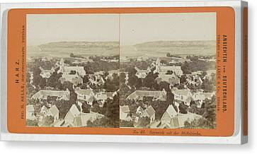 Gernrode And The Stiftskirche, Germany Canvas Print