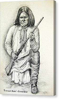 Geronimo's Famous Pose Canvas Print by Marilyn Smith