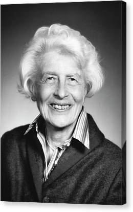 Gertrude Goldhaber Canvas Print by Emilio Segre Visual Archives/american Institute Of Physics