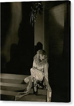 Gertrude Lawrence As Pierrot Canvas Print