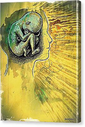 Gestation Of Ideas Canvas Print - Gestation Of Ideas by Paulo Zerbato