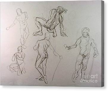 Gestures Of A Man Canvas Print by Andy Gordon
