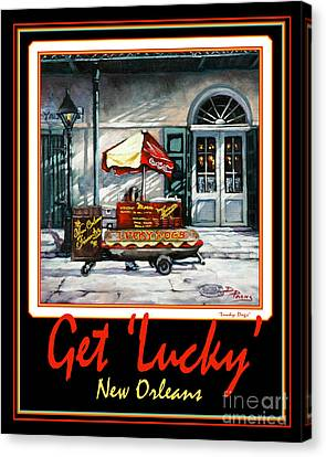 Get ' Lucky ' -  New Orleans Canvas Print by Dianne Parks