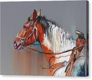 Get Along Home Susie Canvas Print by James Skiles