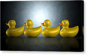 Get Your Ducks In A Row Canvas Print