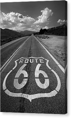 66 Canvas Print - Get Your Kicks On by Peter Tellone