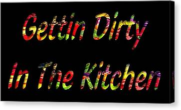 Dinner Party Invitation Canvas Print - Gettin Dirty In The Kitchen by Catherine Lott