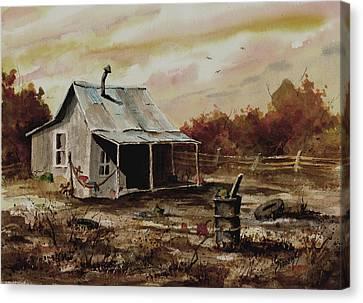 Gettin' The Yard Work Done Canvas Print by Sam Sidders