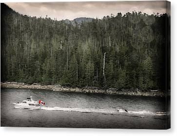 Canvas Print featuring the photograph Getting A Tow In Canada by Davina Washington