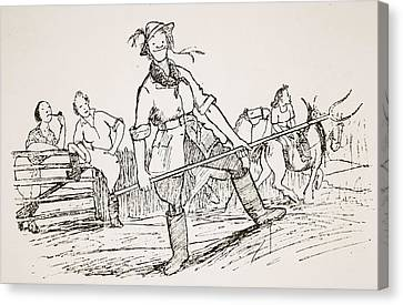 Getting Back To The Land, Illustration Canvas Print by Pont