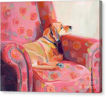 Getting Cozy Canvas Print by Kimberly Santini