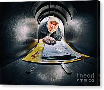 Getting The Mail Canvas Print by Mark Miller