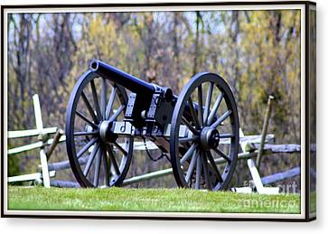 Gettysburg Battlefield Cannon Canvas Print by Patti Whitten