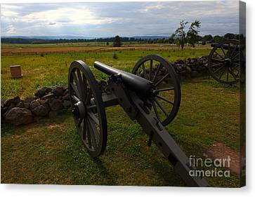 Gettysburg Battlefield Historic Monument Canvas Print by James Brunker