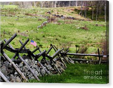 Civil War Site Canvas Print - If This Land Could Talk by Patti Whitten