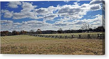 Civil War Battle Site Canvas Print - Gettysburg Battlefield - Pennsylvania by Brendan Reals