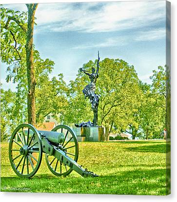 Confederate Monument Canvas Print - Gettysburg Battleground by Bob and Nadine Johnston