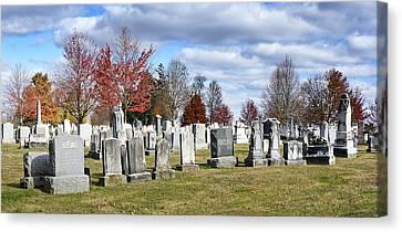 Gettysburg National Cemetery Canvas Print by Brendan Reals