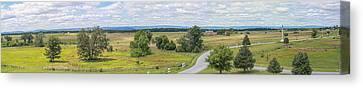 Gettysburg Panoramic From Top Of Pennsylvania Memorial Canvas Print by Randy Steele