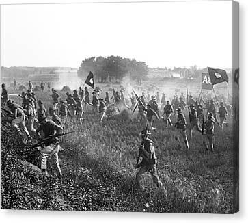 Gettysburg Reenactment Canvas Print by Harris & Ewing