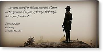 Gettysburg Remembrance Canvas Print by Stephen Stookey