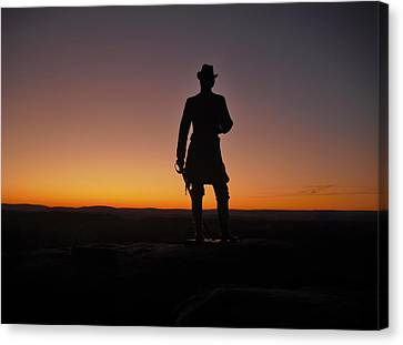 Canvas Print featuring the photograph Gettysburg Sunset by Ed Sweeney