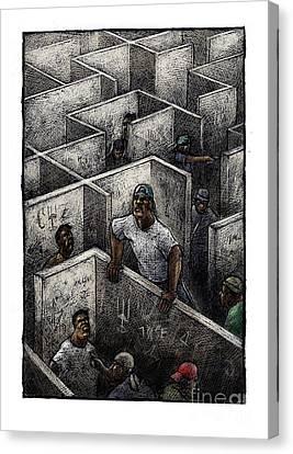 Ghetto Canvas Print by Chris Van Es