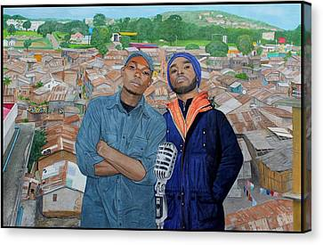 Ghetto Voice Canvas Print by Daniel Kisekka